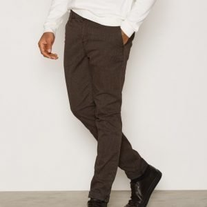 Morris Dapper Slacks Pepita Housut Brown