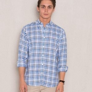 Morris Douglas Shirt 57 Blue Check