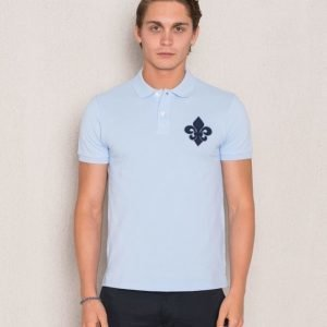 Morris Logo Pique 54 Light Blue