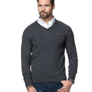 Morris Merino V-Neck 95 Grey