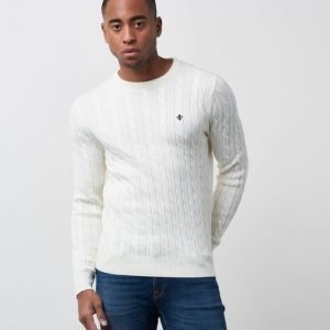 Morris Pima Cotton Cable Oneck 02 Off White