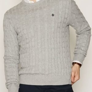 Morris Pima Cotton Cable Pusero Grey