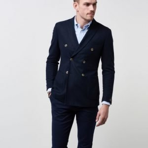 Morris Vigo Washed Flannel DB Blazer 60 Navy