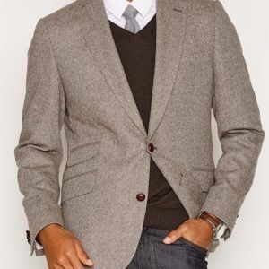 Morris York Herringbone Blazer Bleiseri Brown