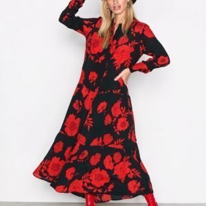 Moss Copenhagen Camp Miram Dress Pitkähihainen Mekko Rose