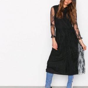 Moss Copenhagen Sabria Lace Dress Mekko Black