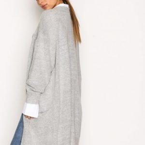 Moss Copenhagen Vogue Mohair Long Cardigan Neuletakki Light Grey Melange