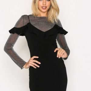 Motel Chaney Bodycon Dress Juhlamekko Black