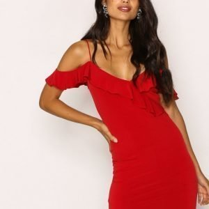 Motel Chaney Bodycon Dress Kotelomekko Red