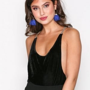 Motel Fern Velvet Bodice Body Black