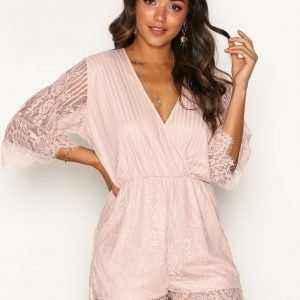 Motel Giola Playsuit Rose Beige