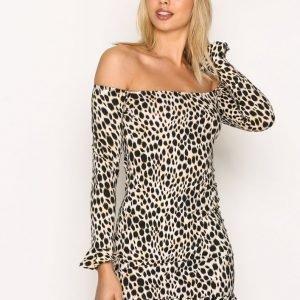Motel Jazzie Bodycon Juhlamekko Leopard