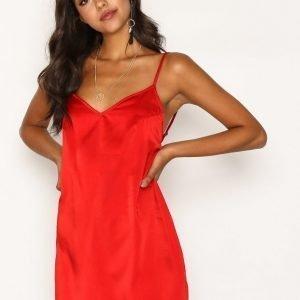 Motel Maltri Slip Dress Loose Fit Mekko Red
