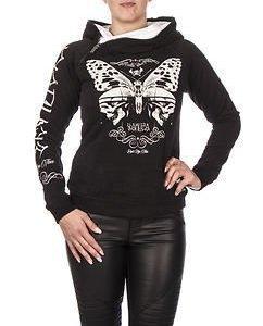 Moth Hoodie Black