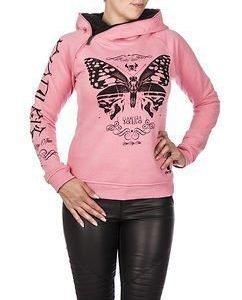 Moth Hoodie Pink