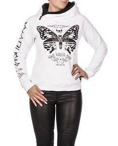 Moth Hoodie White