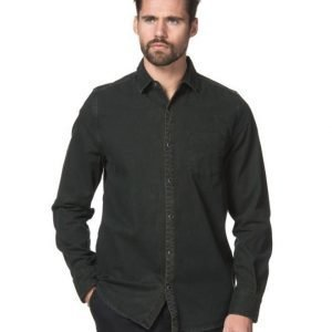 Mouli Frank Denim Shirt Black