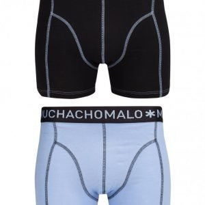 Muchachomalo Boxer Solid 2-Pack 157 Bokserit Musta/violetti
