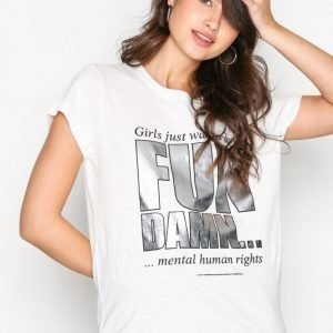 Munthe Swan T-Shirt T-Paita Ivory