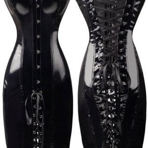 Musta PVC-korsettimekko