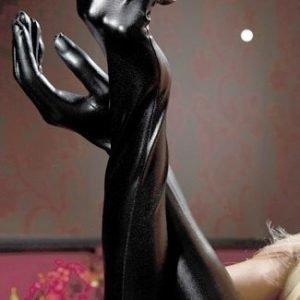 Mustat PVC-hansikkaat