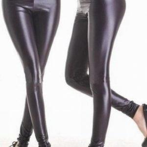Mustat wetlook leggingsit