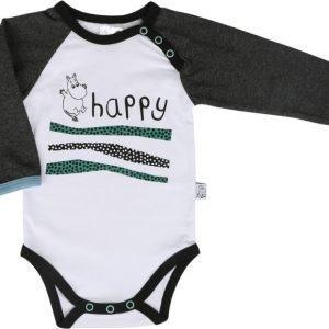 Muumi Body Happy jump Valkoinen/Musta/Vihreä