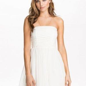 NLY Blush Mesh Bandeau Dress Rosa