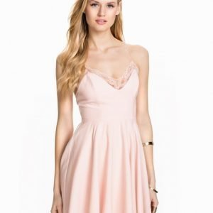 NLY Blush Twist Back Dress