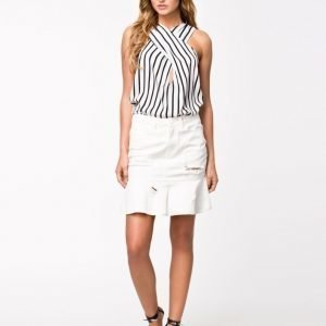 NLY Design Destroyed Denim Skirt