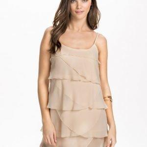 NLY Design Mini Frill Dress Creme