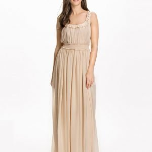 NLY Design Smock Long Dress Creme