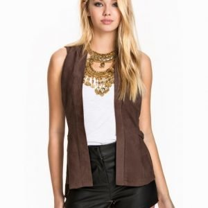 NLY Design Suede Waistcoat