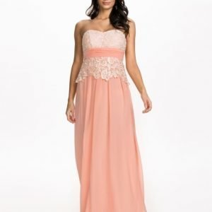 NLY Eve Bandeau Lace Up Dress Ljus Rosa
