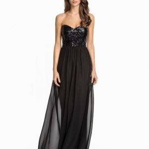 NLY Eve Cross Back Maxi Dress Silver
