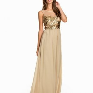 NLY Eve Decored Mesh Dress Blå