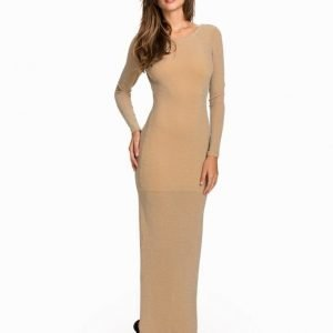 NLY Eve Scoop Back Gold Dress