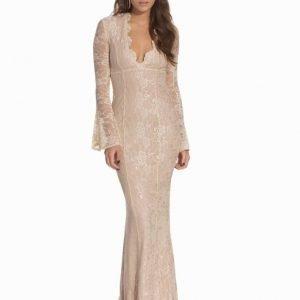 NLY Eve Wonder Lace Dress Beige
