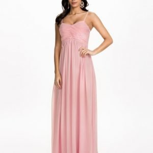 NLY Eve Wrap Bust Long Dress Rosa