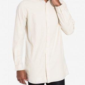 NLY MAN LA Long Shirt Kauluspaita Light Beige