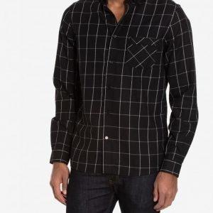 NLY MAN Paris Flannel Shirt Kauluspaita Musta