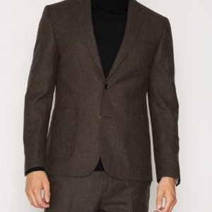 NLY MAN Slim Fit Tweed Blazer Bleiseri Ruskea