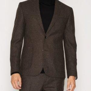 NLY MAN Slim Fit Tweed Blazer Bleiseri Ruskea