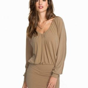 NLY One Drapy Plain Dress Beige