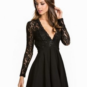 NLY One Glam Lace Skater Dress
