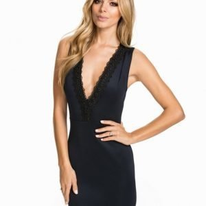 NLY One Lace Trim Plunge Neck Dress