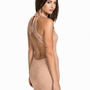 NLY One Open Back High Neck Dress