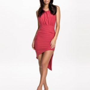 NLY One Open Back Ruched Dress Svart