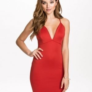 NLY One Plunge Cross Over Dress Svart