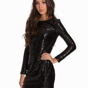 NLY Trend Allover Sparkle Dress Svart